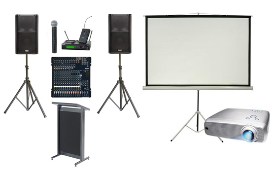 Event and corporate AV hire system
